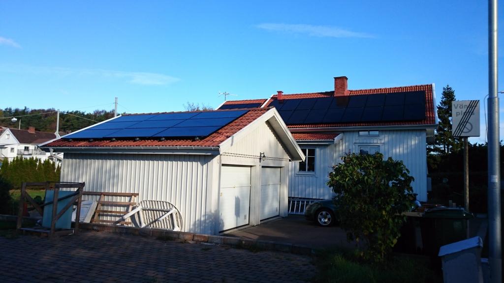 325W EC Solar svarta solpaneler solceller